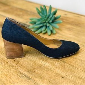 Franco Sarto Optimum Denim w/ Block Pump Heel